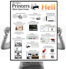 Why I Believe Printers Were Sent From Hell Poster