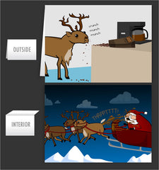 Reindeer Diarrhea - Greeting Card #38