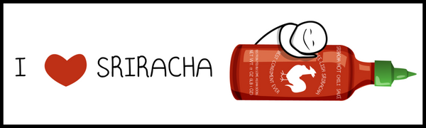 I Love Sriracha Bumper Sticker
