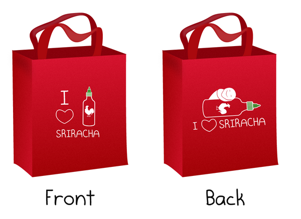 I Heart Sriracha Tote Bag