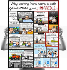 Why Working At Home is Both Horrible and Awesome Poster