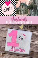 Aristocats Birthday Shirt | Marie Aristocats Party | Embroidered | Aristocats Shirt