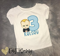 Boss Baby Embroidered Birthday Shirt | The Boss Baby Birthday Party