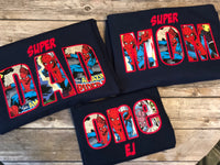 Spiderman Embroidered Party Shirts | Spider-man Birthday Shirt