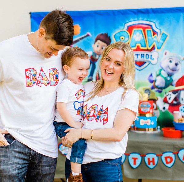 Paw Patrol Birthday Shirt | Paw Patrol Party | Embroidered | Paw Patrol Shirt