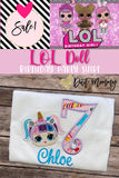 LOL Doll Birthday Shirt | LOL Party | Embroidered | Unicorn LOL Birthday Shirt