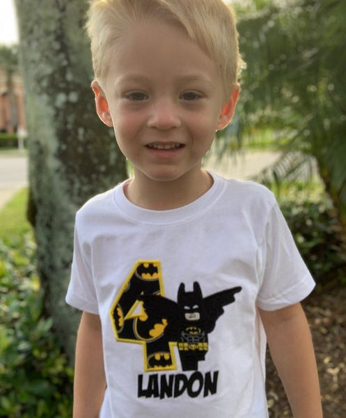 LEGO Batman Birthday Shirt | LEGO Batman Embroidered Party Shirt