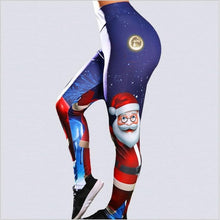 "Load image into Gallery viewer, ""Santa's Sleigh"" High Waisted Leggings"