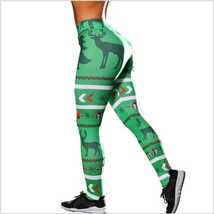 Copy of 2018 Christmas Printing Leggings Put Hip Elastic High Waist Legging No Transparent Breathable Merry Christmas Pants