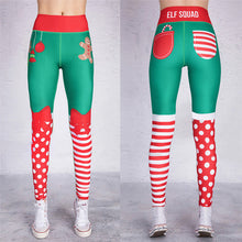 Load image into Gallery viewer, Copy of 2018 Christmas Printing Leggings Put Hip Elastic High Waist Legging No Transparent Breathable Merry Christmas Pants