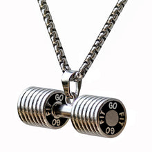 Load image into Gallery viewer, Dumbbell Pendant Fitness Necklace
