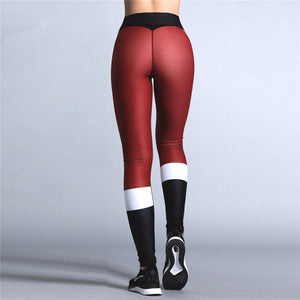 """Santa Pants"" Christmas Ankle-Length Leggings"