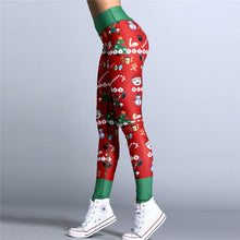 "Load image into Gallery viewer, ""Favorite Things"" Christmas High Waisted Ankle-Length Leggings"
