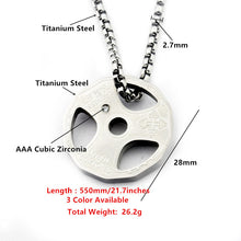 Load image into Gallery viewer, Titanium Stainless Steel Weight Plate Necklace