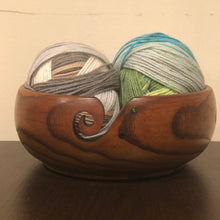 "Load image into Gallery viewer, Large Jujube Wooden Yarn Bowl  - 8"" x 3"" x 8"""