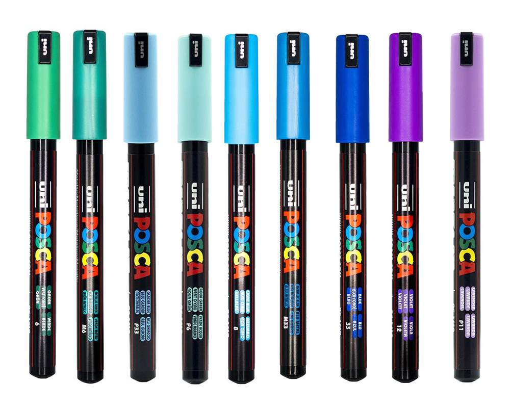 POSCA PC-1MR Calibrated Tip Paint Markers