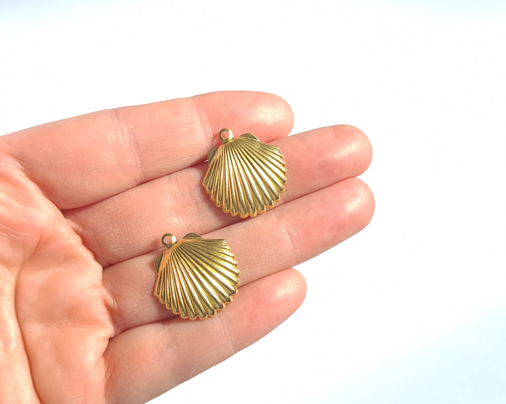 Brass Shell - 10 pieces