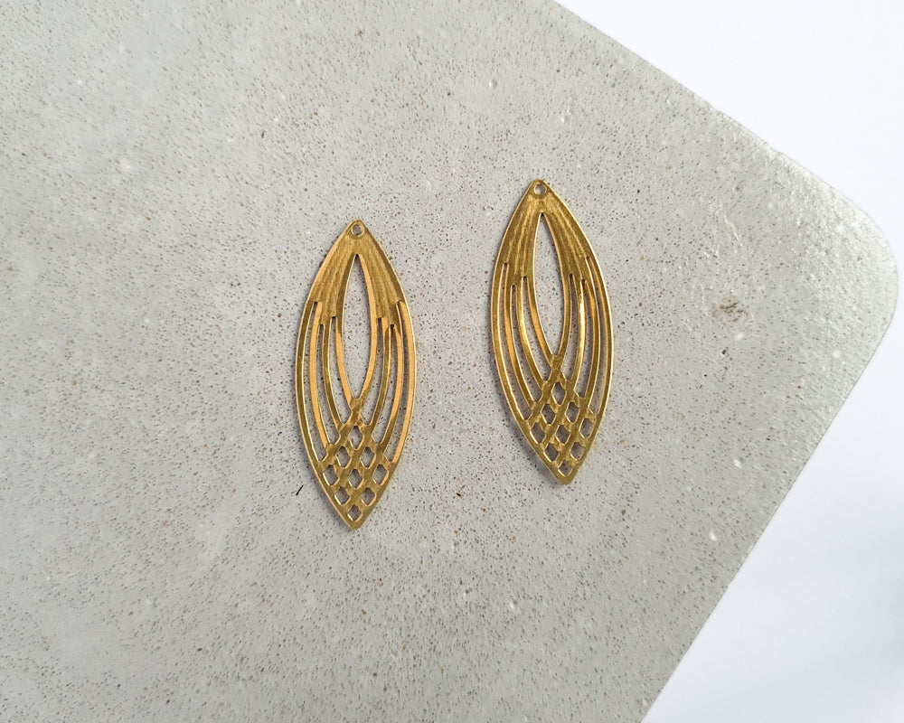 Brass Weave - 10 pieces