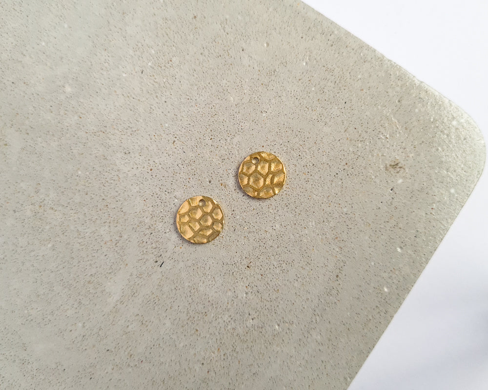Brass Round [Hammered] - 20 pieces