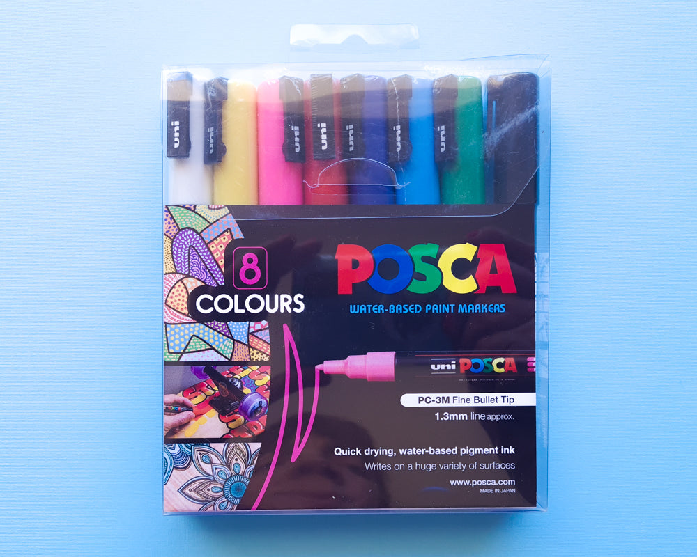 POSCA PC-3M Paint Markers: 8-Pack Basics