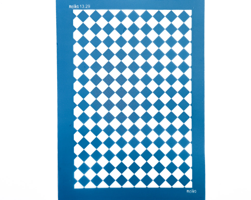 Moiko Silk Screen - 13.29 - Large Checkerboard
