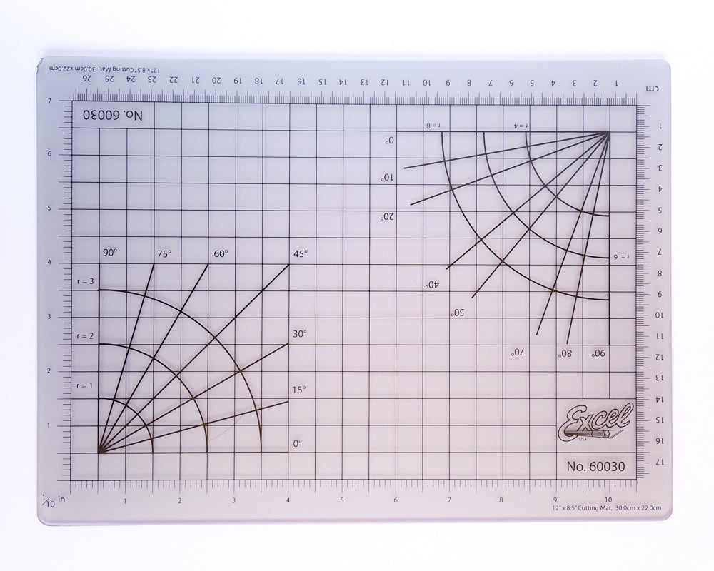 Excel Cutting Mat - 30cm x 22cm [Clear]