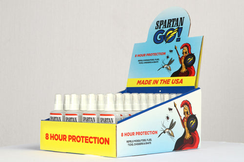 2020 Season - BUY NOW: Spartan Mosquito Eradicators: Case of 30 Retail Units- Bundled with 40 bottles of Spartan GO! with GO! display case.