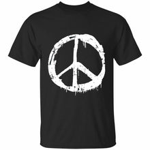 Load image into Gallery viewer, Distressed Peace Sign T-shirt
