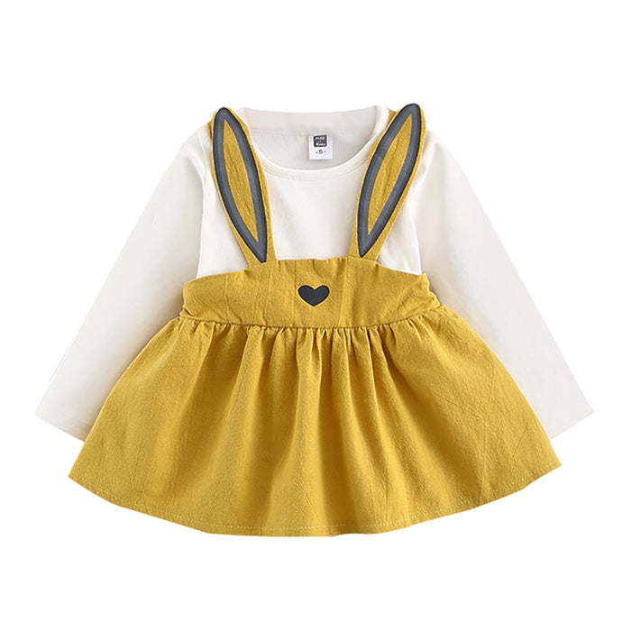 Cute Rabbit Bandage Suit Mini Dress For Baby Girls - Babystation Drive