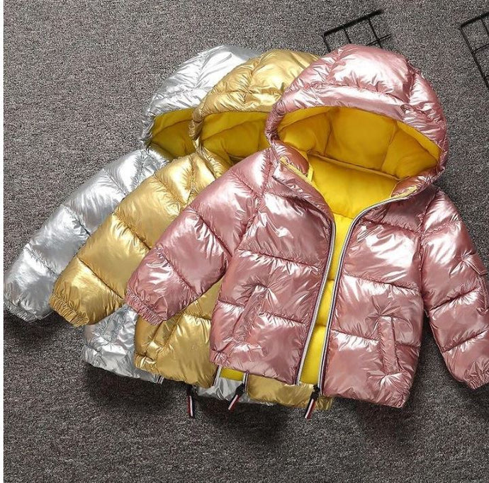 Metallic hooded winter coat - Babystation Drive