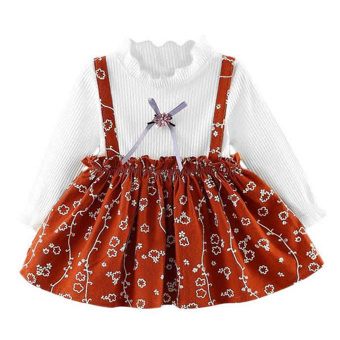 Baby Girl Flower Print Party Dress - Babystation Drive