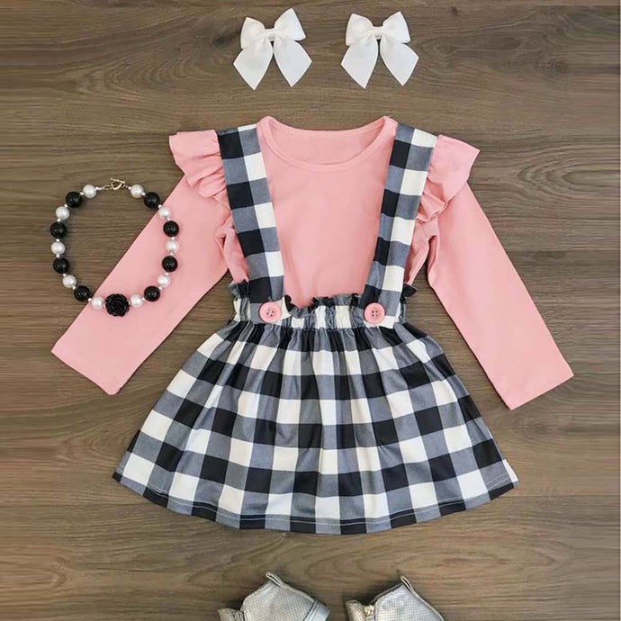 Lattice Strap Skirt & Long Sleeve Set - Babystation Drive
