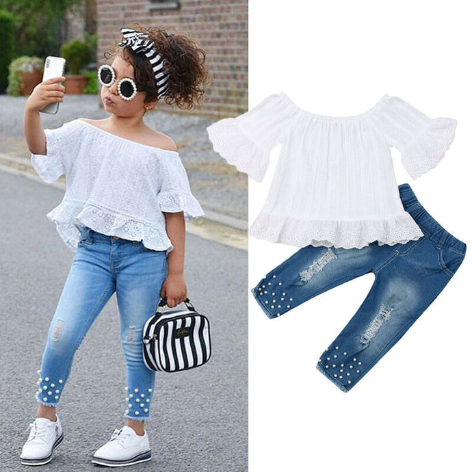 Denim Jeans Outfits Set - Babystation Drive