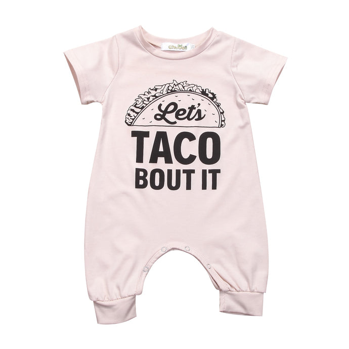 Let's taco bout it romper - Babystation Drive
