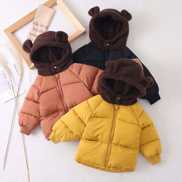 Parka bear hooded winter coats - Babystation Drive