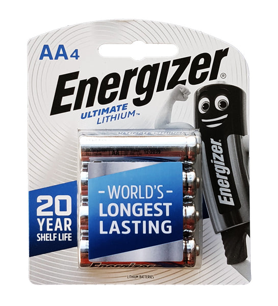 Energizer Ultimate Lithium AA 4 pack ideal for Blipbr