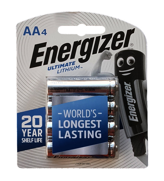 Energizer Ultimate Lithium AAA 4 pack ideal for Blipbr