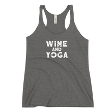Wine and Yoga Women's Racerback Tank