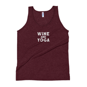 Wine and Yoga Unisex Tank Top