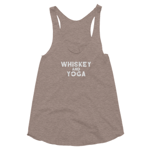 Whiskey and Yoga Women's Tri-Blend Racerback Tank