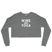 Wine & Yoga Crop Sweatshirt