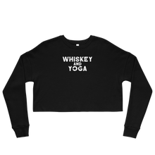 Whiskey & Yoga Crop Sweatshirt
