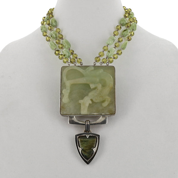 ONE OF A KIND JADE DRAGON NECKLACE