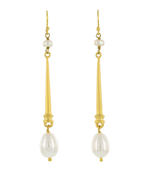 LONG DOUBLE PEARL FRENCH WIRES