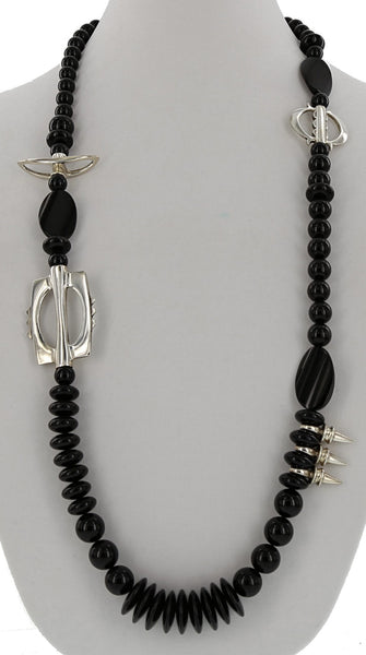 ONE OF A KIND SILVER / BLACK ONYX NECKLACE