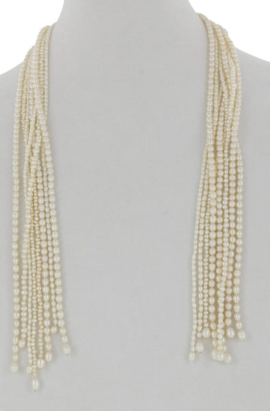 16 STRAND FRESHWATER PEARL LARIAT.