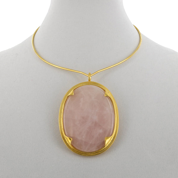 ARTEMIS NECK RING / ROSE QUARTZ