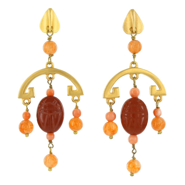 SCARAB CHANDELIERS / RED JASPER