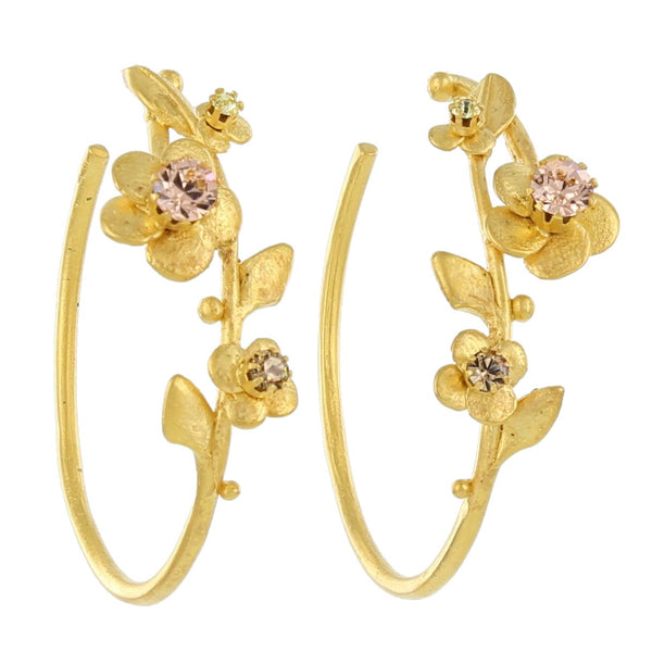 LARGE FLOWER HOOPS / NEUTRALS