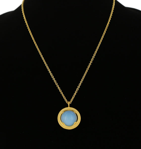 LARGE FRAME PENDANT / GOLD/ OPALITE